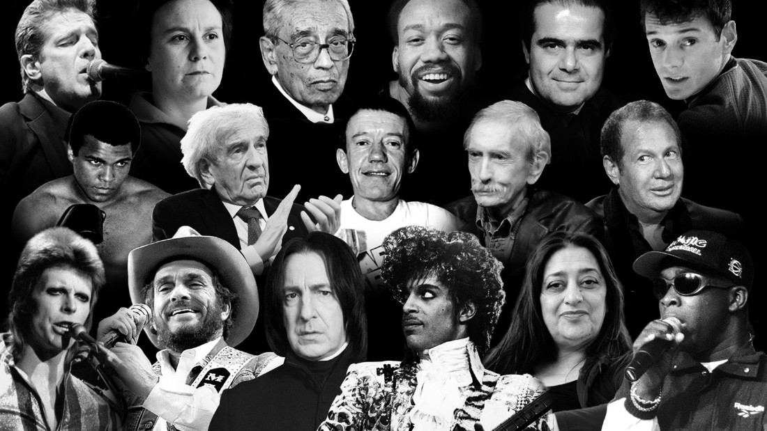 #1. Just one death of a beloved celebrity might not be enough to be the biggest celebrity story of the year -- but 2016 saw the death of all too many musical and on screen legends. From Prince, David Bowie, George Michael and Glenn Frey to Gene Wilder, Florence Henderson, Alan Thicke, Carrie Fisher and Debbie Reynolds, 2016 will go down as a year when we lost too many great artists too young.