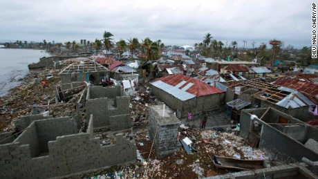 Homes lay in ruins after the passing of Hurricane Matthew in Les Cayes, Haiti, Thursday, October 6. Two days after the storm rampaged across the country's remote southwestern peninsula, authorities and aid workers still lack a clear picture of what they fear is the country's biggest disaster in years.