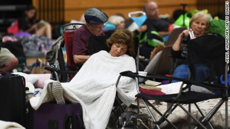 Florida residents hunker down at local shelters