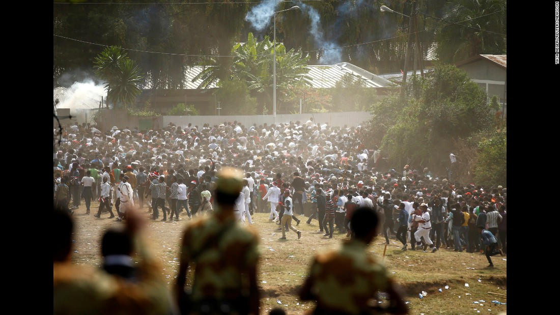 "More than 52 people were killed in a stampede after police fired warning shots at ""troublemakers"" during <a href=""https://www.cnn.com/2016/10/03/africa/ethiopia-oromo-deaths/index.html"" target=""_blank"">a holy festival in Bishoftu, Ethiopia,</a> Communications Minister Getachew Reda said on Sunday, October 2. Ethiopia's opposition party disputed that account, saying that police fired live bullets into the crowd and as many as 120 people were killed."