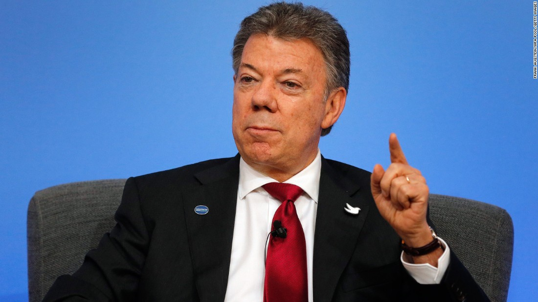 The 2016 Nobel Peace Prize has been awarded to Colombian President Juan Manuel Santos for his efforts to end Colombia's long-running civil war.