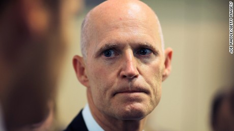 FORT LAUDERDALE, FL - MAY 18:  Florida Governor Rick Scott speaks during the Governor's Hurricane Conference General Session at the  Broward County Convention Center on May 18, 2011 in Fort Lauderdale, Florida.