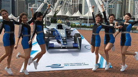 Formula E runs races in city centers to promote electric car technology.