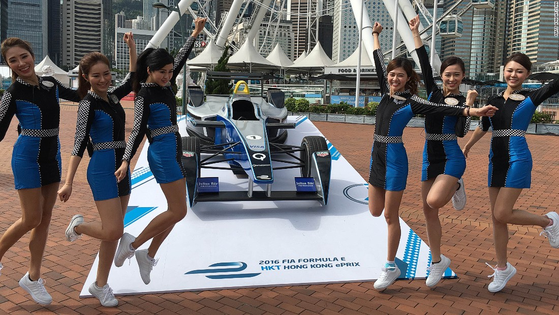 It was the first time Formula E had raced on the streets of Hong Kong