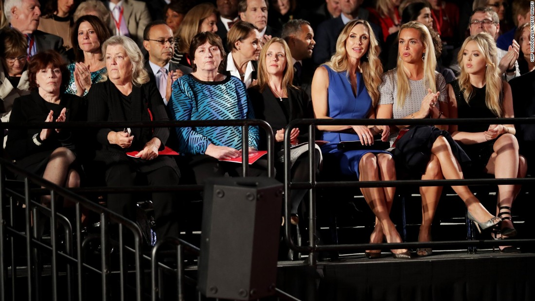 "Also sitting in the audience were, from left, Kathleen Willey, Juanita Broaddrick and Kathy Shelton. Less than two hours before the debate, those three -- along with Paula Jones -- <a href=""http://www.cnn.com/2016/10/09/politics/donald-trump-juanita-broaddrick-paula-jones-facebook-live-2016-election/index.html"" target=""_blank"">appeared in a Trump news conference</a> to speak out against the Clintons. Willey, Broaddrick and Jones have previously accused former President Bill Clinton of inappropriate sexual behavior. Shelton's rapist was defended by Hillary Clinton as a young lawyer. That man was convicted of a lesser charge and served 10 months in jail."