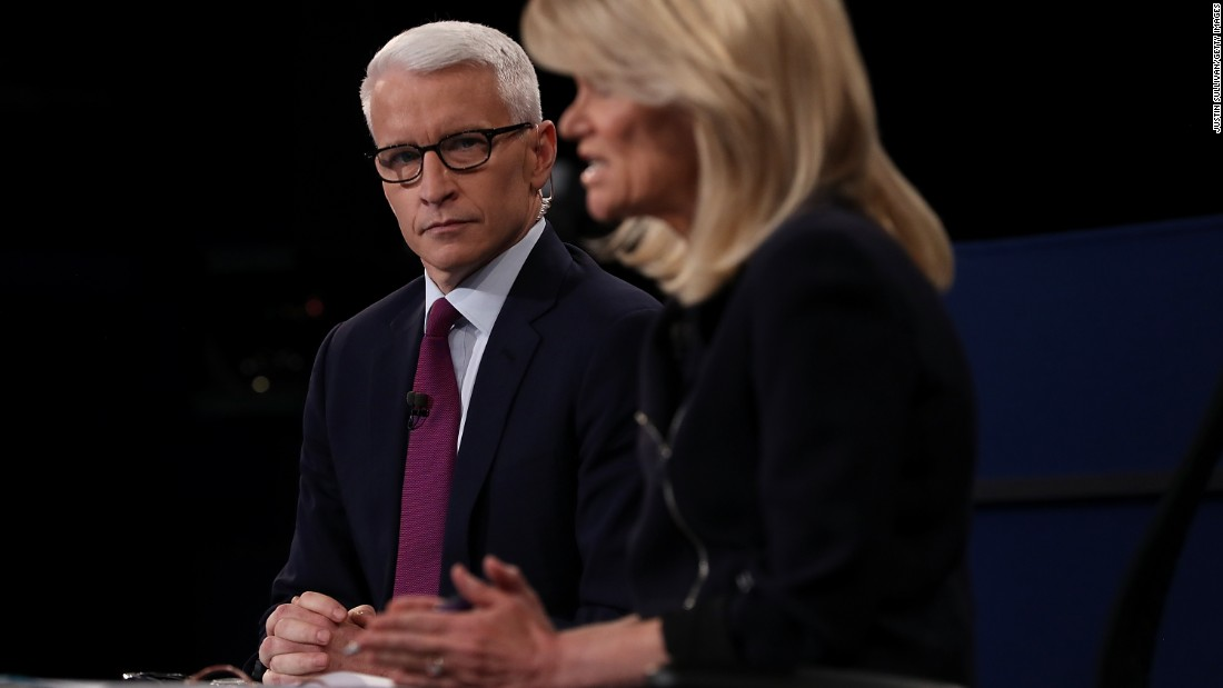 The debate was moderated by CNN's Anderson Cooper and ABC's Martha Raddatz.