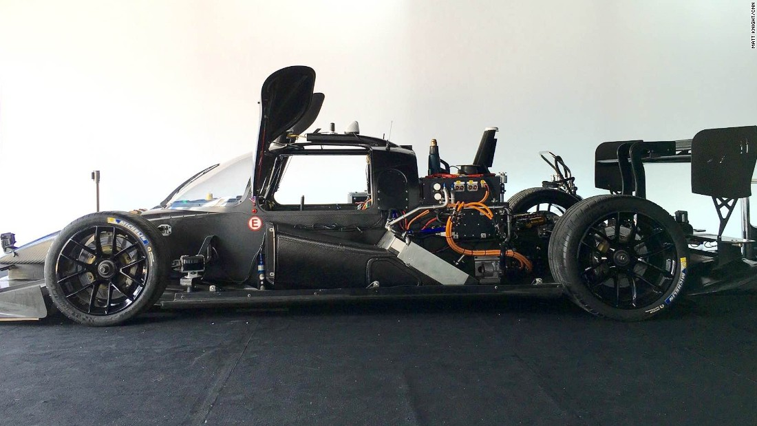 "The car has been developed by a small team of engineers and computer scientists. ""With this car we have several kinds of sensors,"" Sergey Malygin, Roborace's Artificial Intelligence developer, told CNN. ""First of all there are lasers measurements -- light-based, so we have information about the 3D objects around us."""