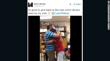 A student's gift to his teacher is getting a lot of attention on social media.