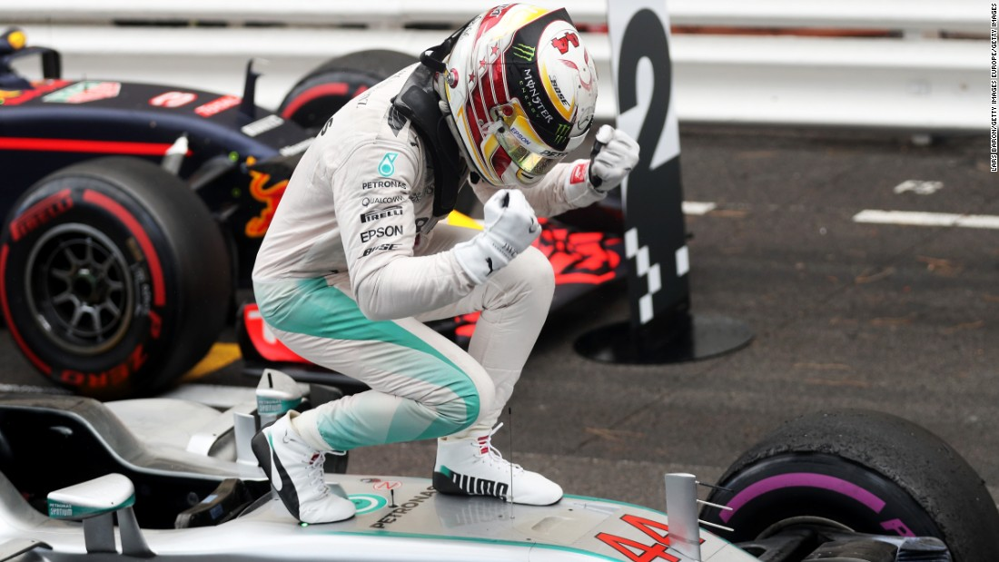 "The wait is over as Hamilton <a href=""http://cnn.com/2016/05/29/motorsport/monaco-grand-prix-lewis-hamilton-wins-daniel-ricciardo-nico-rosberg-formula-one/"" target=""_blank"">wins his first grand prix of 2016</a> in his adopted hometown of Monaco. Seventh-placed Rosberg's championship lead is cut to 24 points."