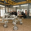Demonstration of the ExoMars Rover prototype during the 2nd ExoMars Industry Day, Turin, Italy