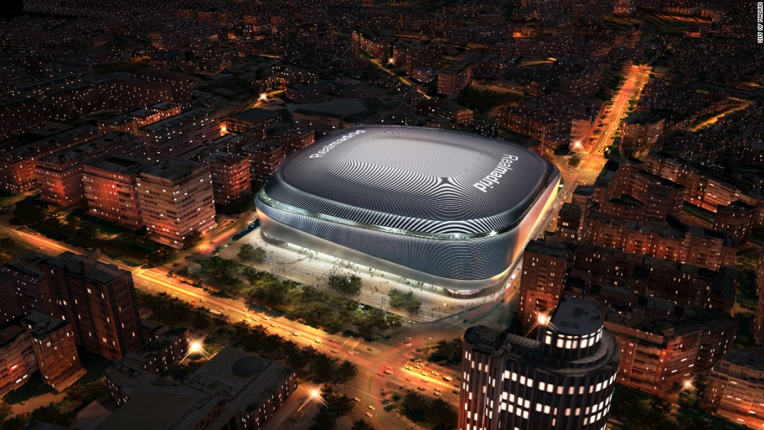 ...and how it will look in the future, with its retractable roof closed.