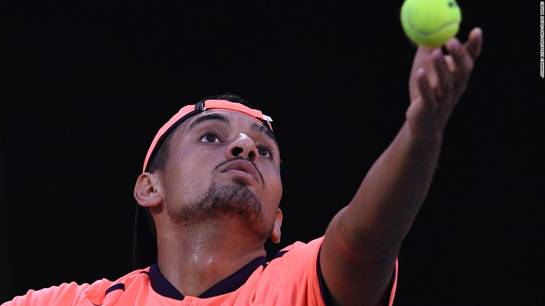 Kyrgios has one of the most devastating serves in the game. But trailing 3-1 and facing a break point in the second round, he simply tapped his serve over the net, began walking to his chair and let unheralded opponent Mischa Zverev hit a winner. He lost in 48 minutes and shouted at a fan.