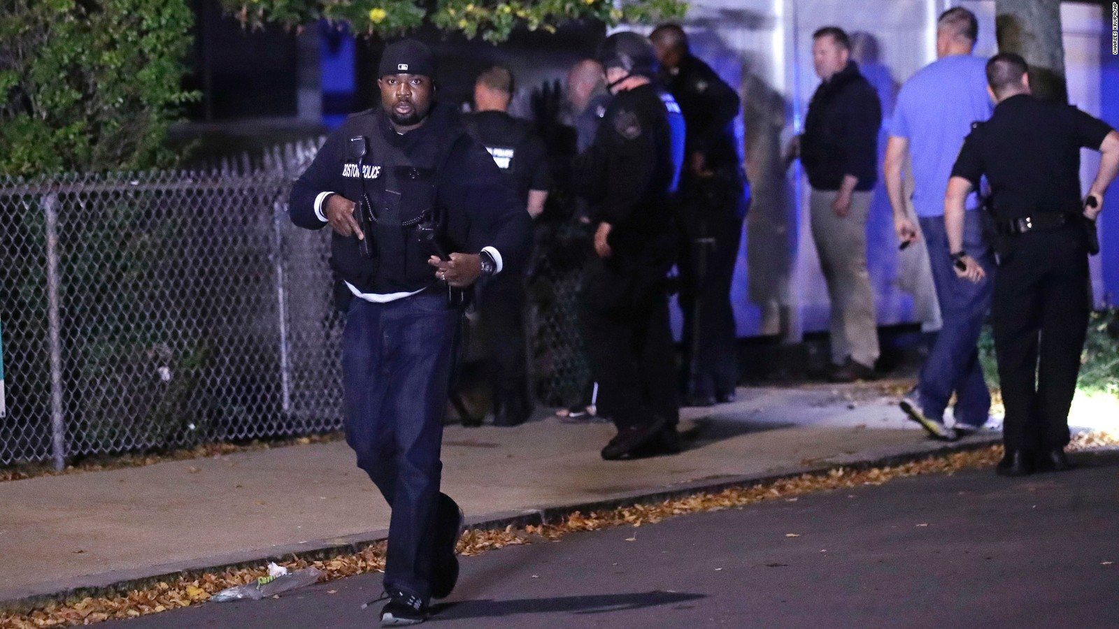 2 police officers critically injured in boston cnn