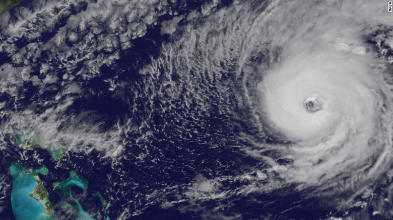 See Hurricane Nicole from space