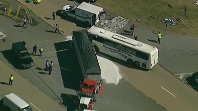 One dead at least 35 injured in bus crash hln vo_00002812