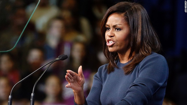 Michelle Obama gets emotional discussing Trump tape