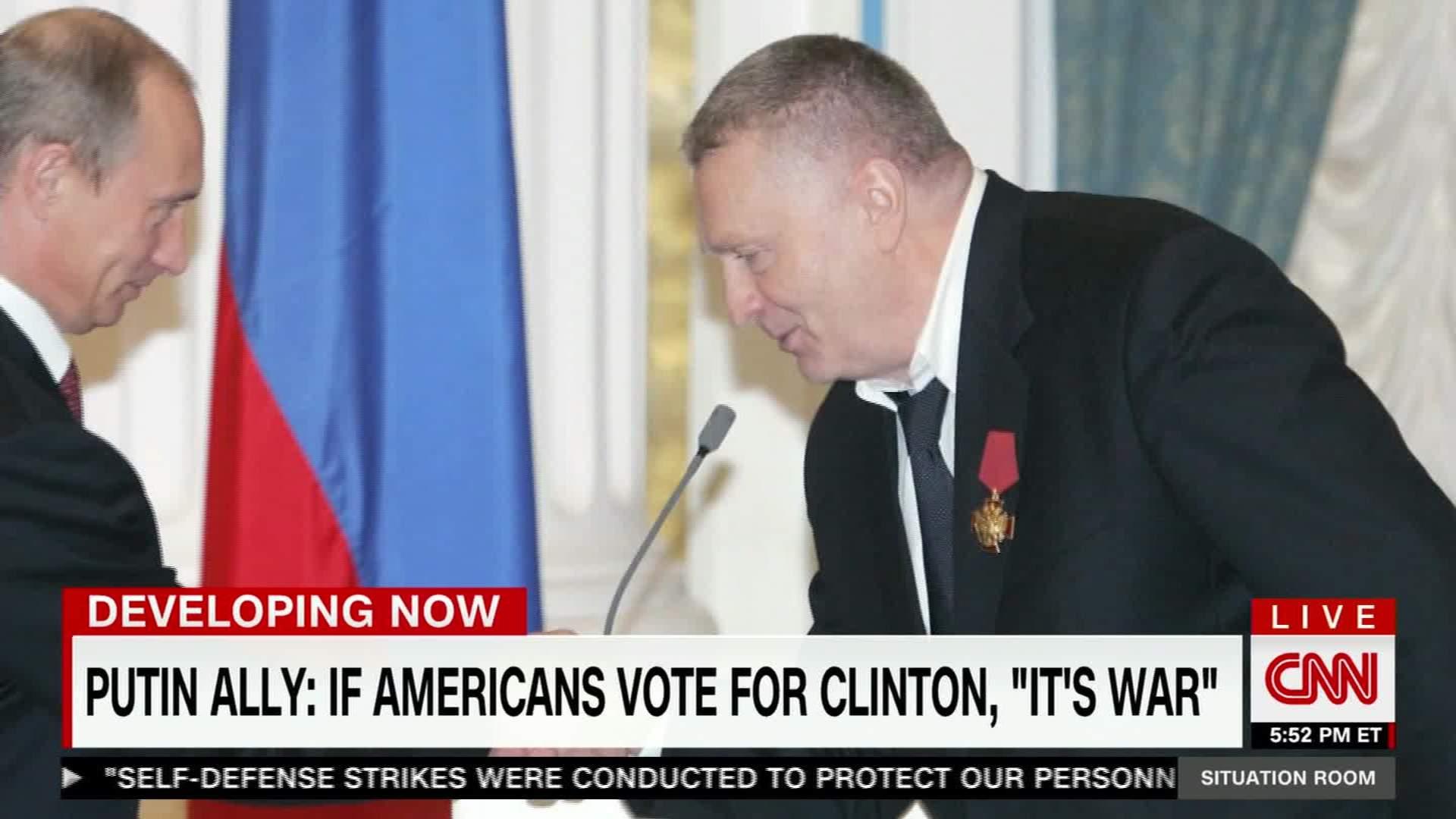 Putin Ally Says US Electing Clinton Would Mean War   CNN Video