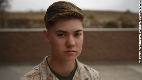 A transgender Marine tests military's new policy