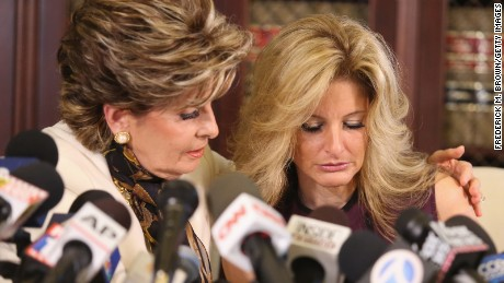 LOS ANGELES, CA - OCTOBER 14:  Attorney Gloria Allred (L) holds a press conference with Summer Zervos, a former candidate on The Apprentice season five, who is accusing Donald Trump of inappropriate sexual conduct October 14, 2016 in Los Angeles, California.  This is the first time the accuser has spoken publicly about the alleged incident.  (Photo by Frederick M. Brown/Getty Images)
