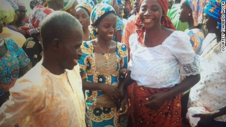 Jubilation for some of the Chibok girls and their families.