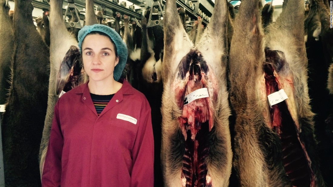 Gray had become increasingly concerned about the ethics and environmental impact of the meat industry and set out to uncover its secrets.  <br /><br />She worked alongside inside industry experts and experienced its dark sides such as slaughterhouses.
