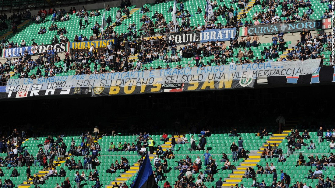 "Inter Milan ""Ultras"" voiced their displeasure at Icardi against Cagliari on Sunday with a banner reading ""You're not a man, you're not a captain, you're just a piece of ""s**t."""