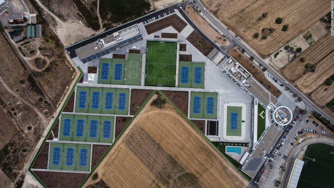 It is laid out across 40,000 square meters of land outside Manacor.