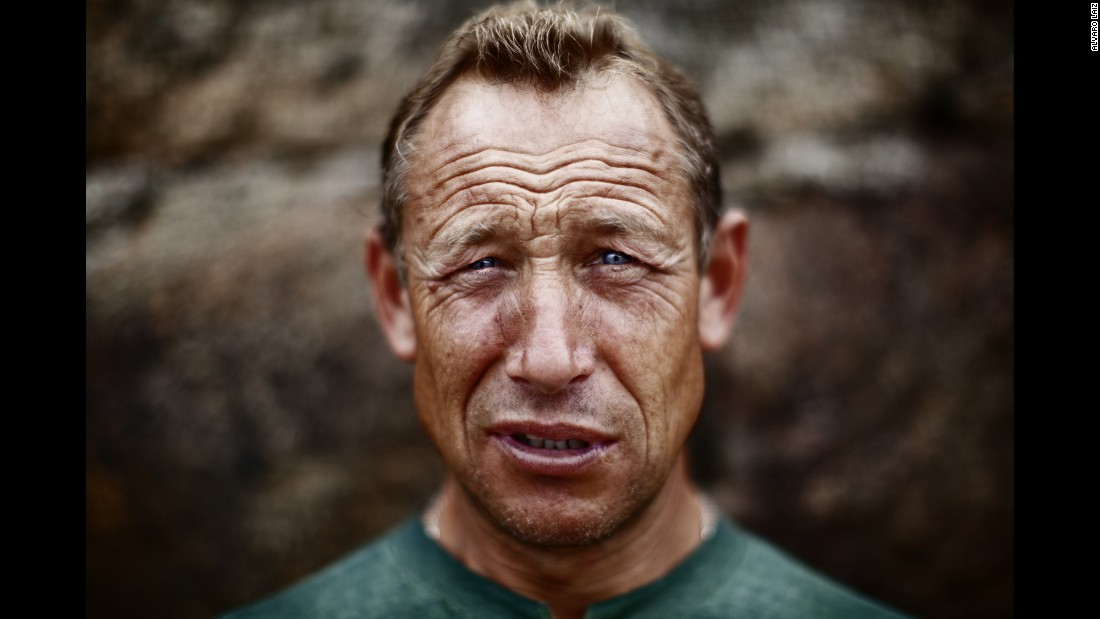 Manolo, 56, spent half his life working as a fisherman in the North Sea.
