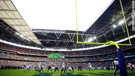 A general view of the NFL International Series match between Indianapolis Colts and Jacksonville Jaguars at Wembley Stadium on October 2, 2016.