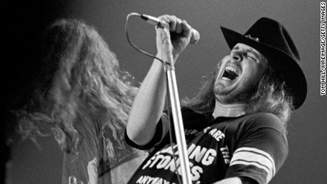 Ronnie Van Zant of Lynyrd Skynyrd during Lynyrd Skynyrd in Concert at the Omni Coliseum in Atlanta - July 5, 1975 at Omni Coliseum in Atlanta, Georgia, United States. (Photo by Tom Hill/WireImage)