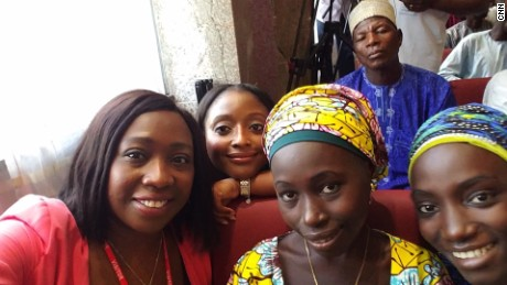 Chibok girls: Freed from terrorists, they smile through pain to give thanks
