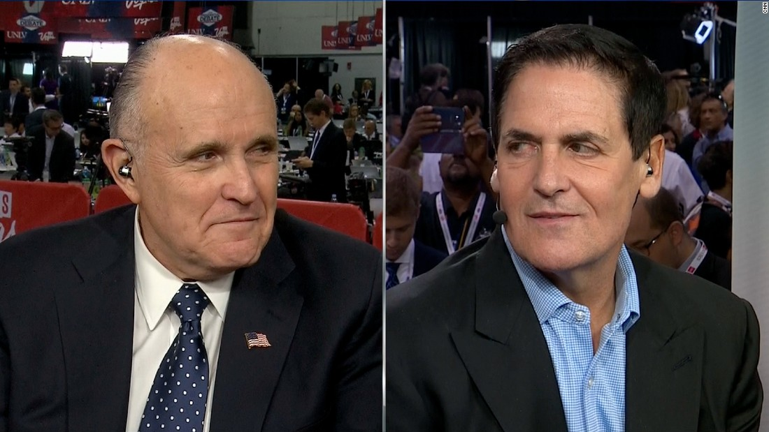Rudy Giuliani gets touchy in Mark Cuban debate