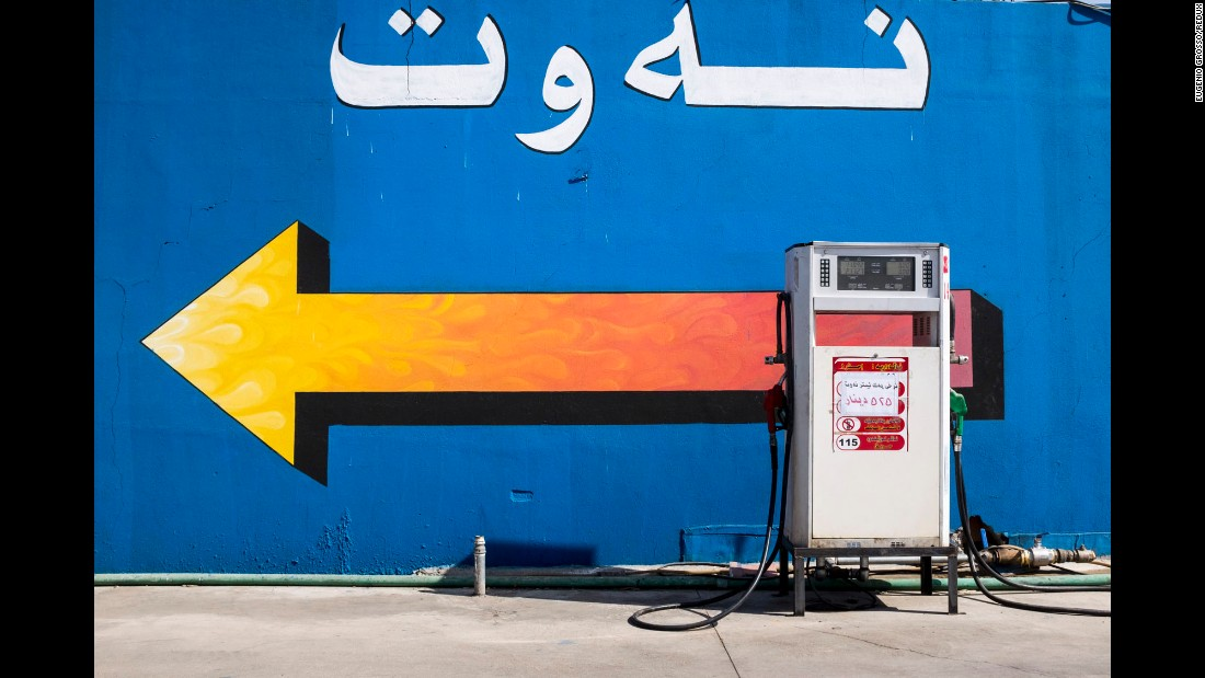 "There is so much oil in Iraq that just about anybody can decide to open their own gas station, said photographer Eugenio Grosso, whose series ""Oil City"" takes a look at gas stations along a 70-mile stretch of northern Iraq. The features of each station can vary greatly. Some are large and luxurious; others are just rusty stalls standing alone."