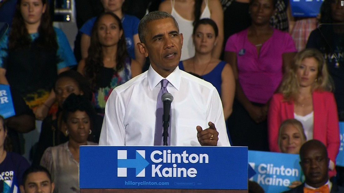 Obama: Trump has nothing to offer but anger, blame