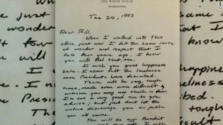 george hw bush bill clinton letter