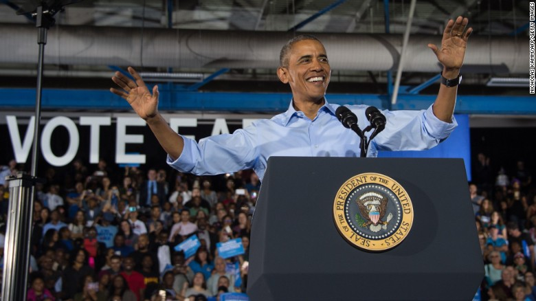 Obama campaigns for down ballot Democrats