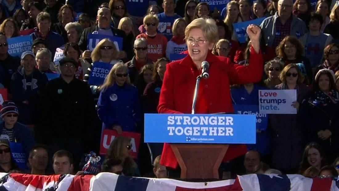 Warren vows to work with Trump on economic issues
