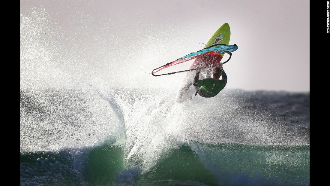 Windsurfer Chris Murray competes in Tiree, Scotland, on Thursday, October 20.