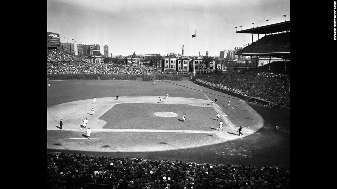 A general view of Wrigley Field during game five of the 1945 World Series.