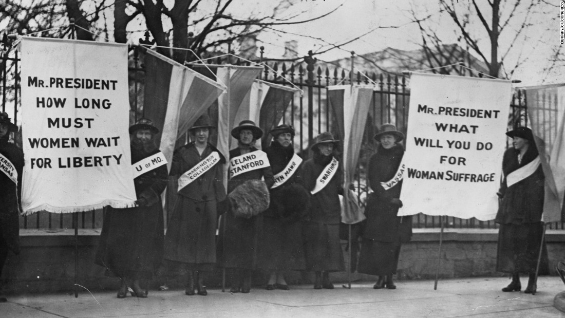 Women weren't able to vote throughout the country until 1920 -- 12 years after the Cubs won the series.