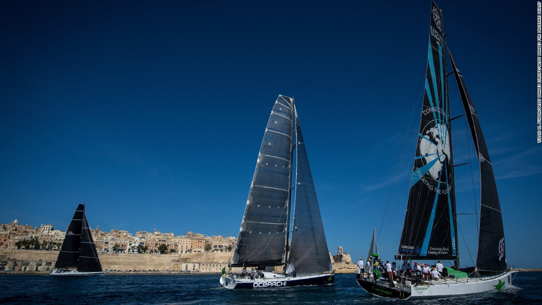 The Rolex Middle Sea Race course, 606 nautical miles long, begins amid the splendor of Valletta Grand Harbor.