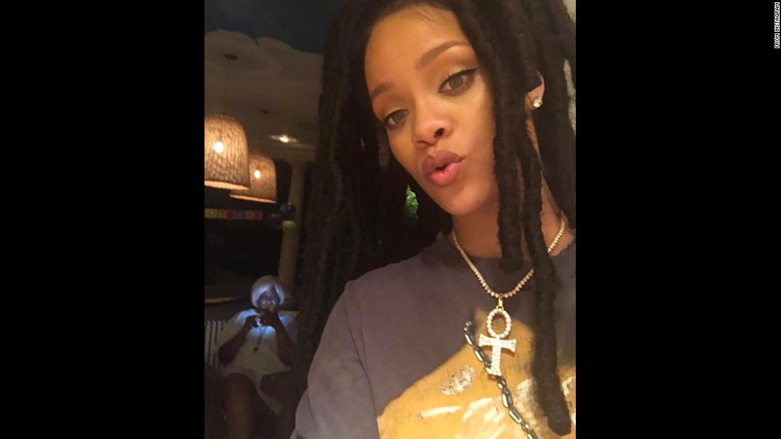"Singer Rihanna said she <a href=""https://www.instagram.com/p/BLVAMkngdwL/"" target=""_blank"">caught her mom ""Insta-lurkin""</a> in this selfie she posted on Sunday, October 9."