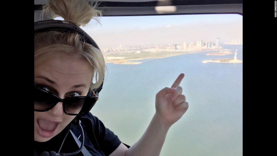 """Statue of my sister!"" <a href=""https://www.instagram.com/p/BLRirRCgVDe/"" target=""_blank"">comedian Rebel Wilson said,</a> pointing to the Statue of Liberty on Friday, October 7. One of Wilson's sisters is named Liberty."