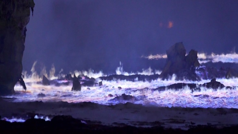 Why are these neon streams ablaze in Iraq?