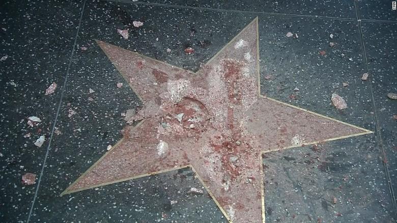 Donald Trump star vandalized; LAPD investigating - CNNPolitics