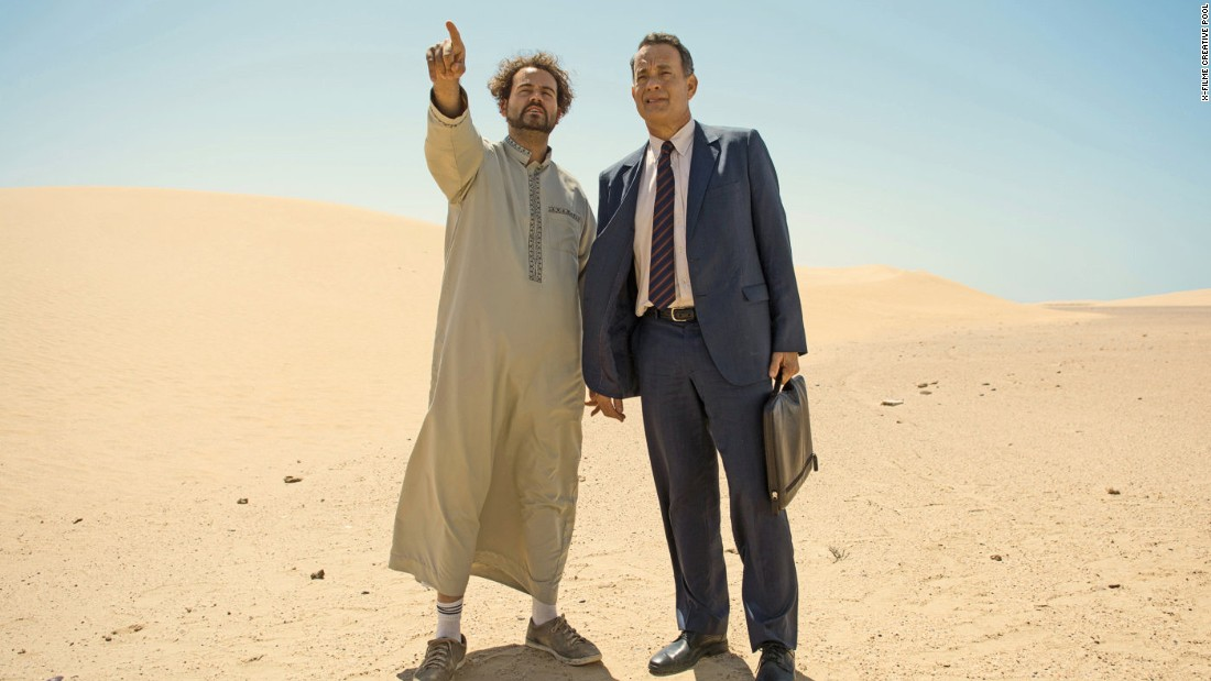 "Morocco's film studios and vibrant cities are often used as a backdrop for Hollywood films set in the desert, the Middle East and Asia.  Pictured: Tom Hanks in ""A Hologram for the King"", in which Morocco doubled for Saudi Arabia."