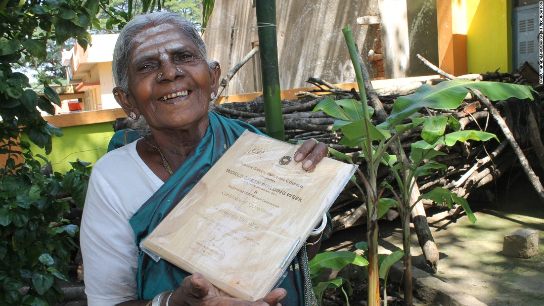 "Thimmakka believes it was her fate not to have children, instead planting hundreds of banyan trees with her husband as a way of receiving ""blessings."""