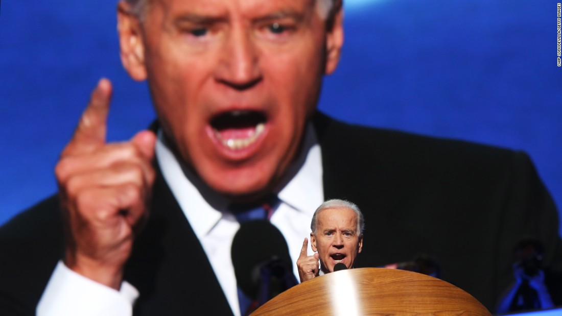 Biden speaks on the final day of the Democratic National Convention in September 2012.