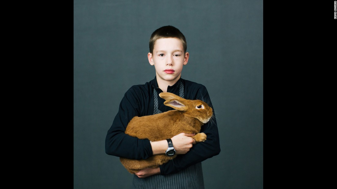 Calvin Dow, of Orting, Washington, has 60 rabbits in his family.
