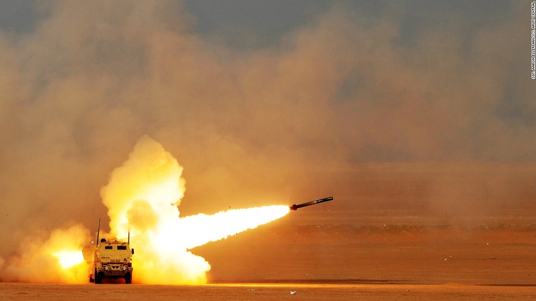 U.S. soldiers fire a rocket during a training exercise near Kuwait's Camp Buehring on Tuesday, October 4.